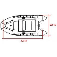 Тент для ПВХ лодок 330-350