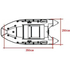 Тент для лодок ПВХ 360-390